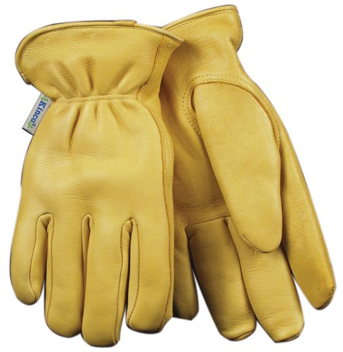 (Kinco 035117090019 Women's Lined Deerskin Leather Ranch and Work Glove, Medium)