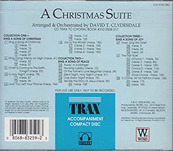 David T. Clydesdale - A Christmas Suite - TRAX Accompaniment compact Disc - Amazon.com Music
