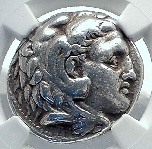 Ancient Coin Greek Tetradrachm Silver - 1000 GR ALEXANDER III the Great AR Greek Tetradrachm Coin Tetradrachm Ch F NGC