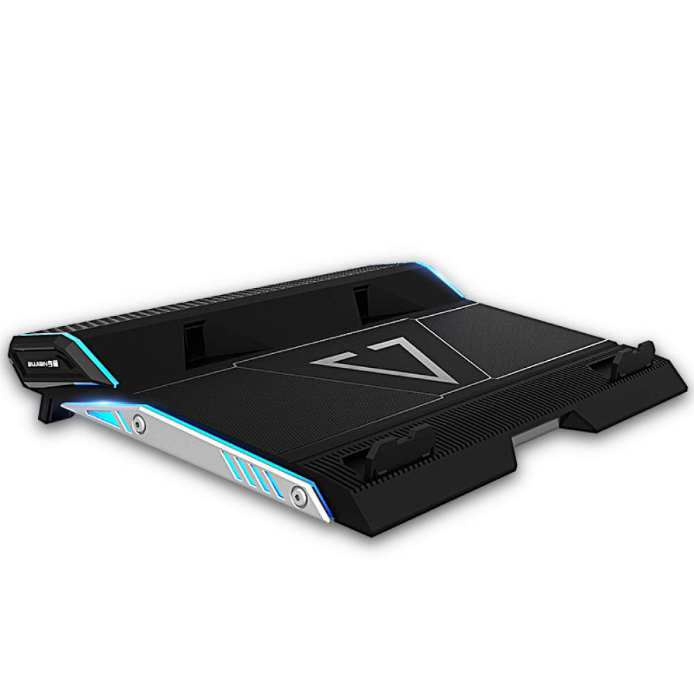 XINWEI PAD Laptop PC Cooler, 12''-17.3'' Ultra Quiet Laptop Cooler Stand with 2 Fans at 2500RPM - LED Lighting