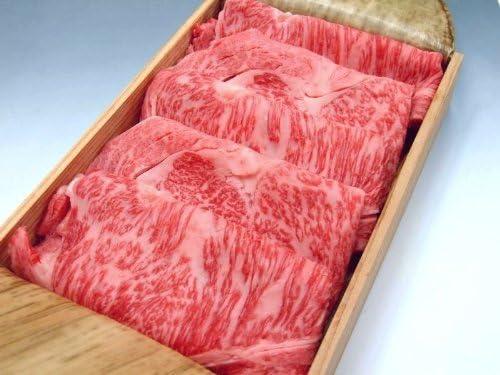 厳選 【 黒毛 和牛 雌牛限定 】 ギフト 用 特上牛 ロース すき焼き 肉 1Kg 【 木箱詰め 】