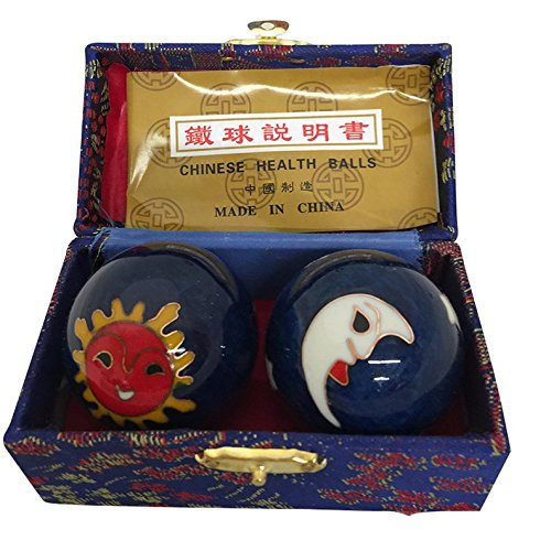 Appliances Blue Moon (Baoding Balls Chinese health Massage Exercise Stress Balls -Blue Moon & Sun #2)