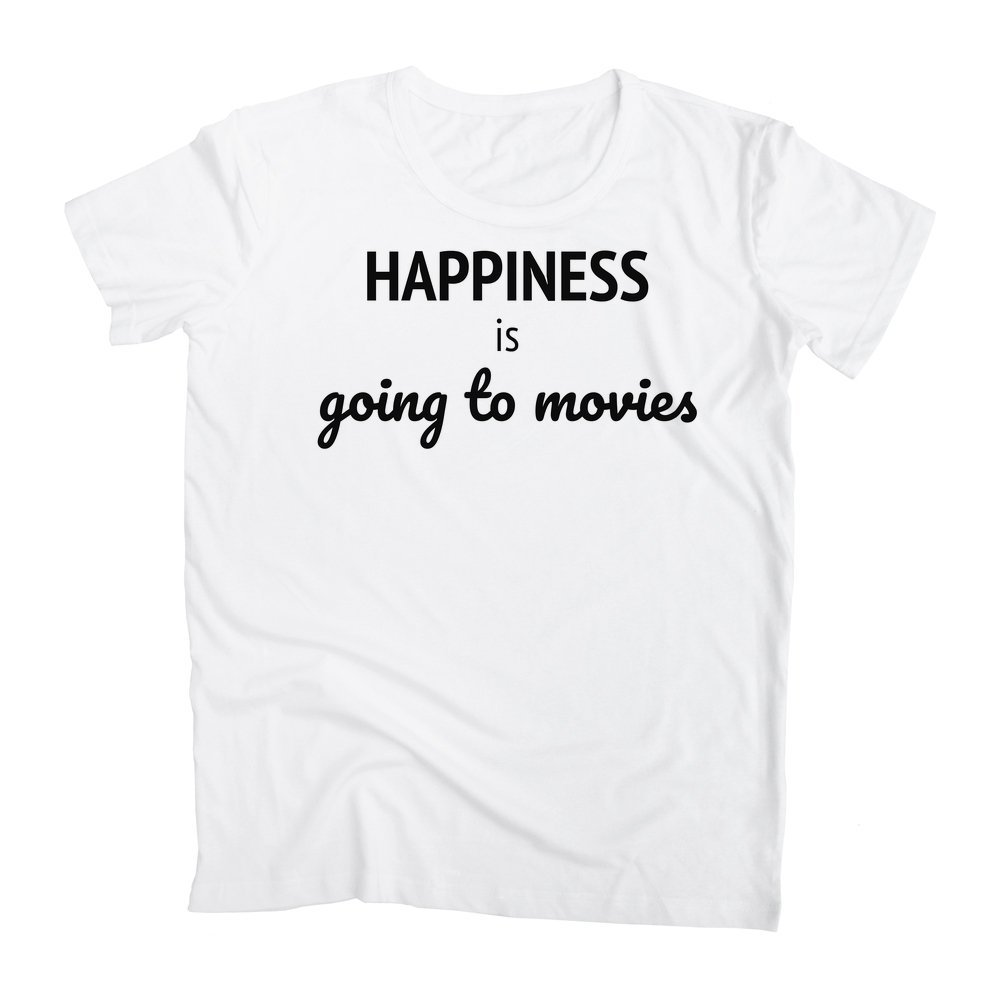 graphke Happiness is Going to Movies Mens T-Shirt
