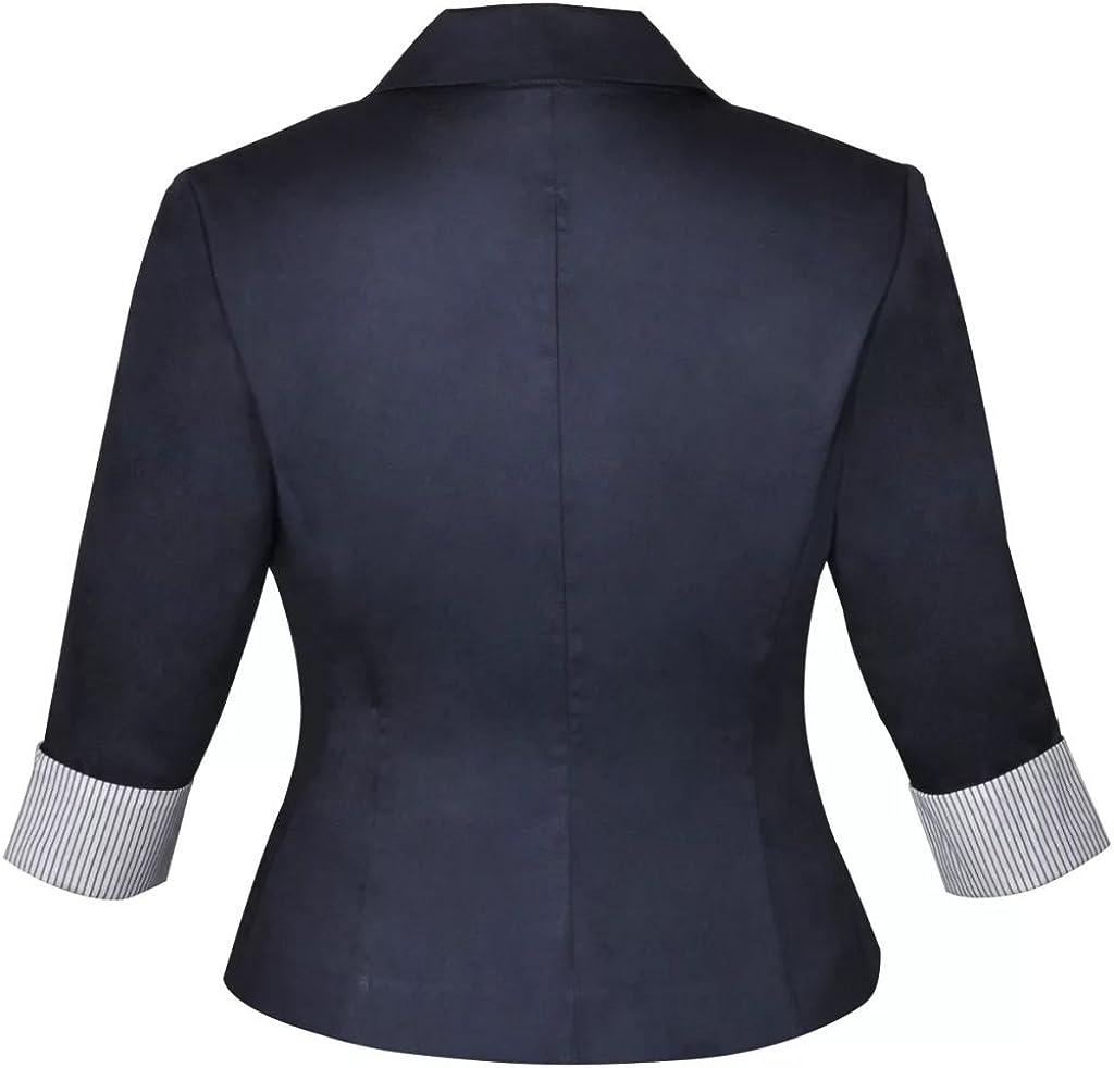 Kostüm zweiteiler Business Blazer und Minirock mit Gürtel Rock Kurzjacke Anzug