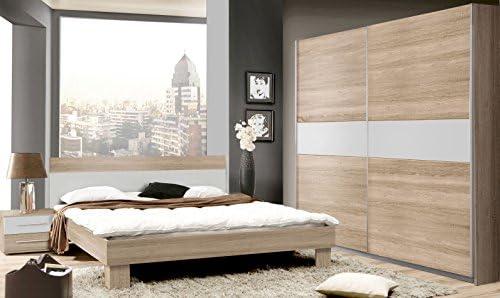 Schlafzimmer Komplett - Set Abuko A, 4-teilig, Farbe: Sonoma Eiche ...