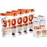 310 Shake Variety Pack Includes 4 Bags of 28 Serving Chocolate,Vanilla Chai, Mocha and Salted Caramel Shake | 310 Thin | 310 Metaboost | 2 Free Shaker Cups and Free Digital Book