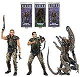"Neca Aliens Series 1 - 7"" Action Figures - Set of 3"