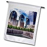 3dRose Danita Delimont - Cities - World Trade Center Memorial Pool Fountain, New York City, New York - 18 x 27 inch Garden Flag (fl_259795_2)