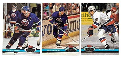 - 1991-92 Topps Stadium Club Hockey Team Set - New York Islanders