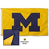 University of Michigan Maize Block M Embroidered and Stitched Nylon Flag Review