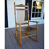 Standard Slat Porch Rocking Chair in Medium Oak Finish