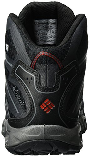 Columbia Ventrailia Ii Mid Outdry, Zapatillas de Deporte Exterior para Hombre Negro (Black/ Mountain Red)