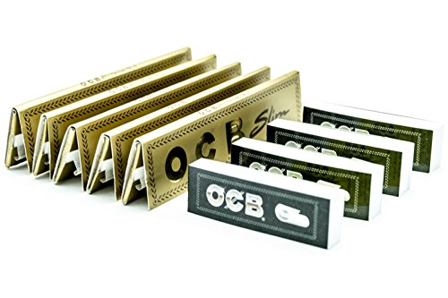 [5 Packs] OCB Gold Premium King Size Slim Rolling Papers with [4 Booklets]...