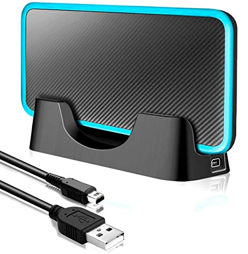 Customized USB Charging Dock Charger Stand with Cable Compatible with Nintendo 2DS XL