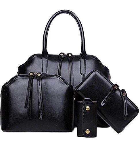 Cera Black Europa Y Messenger Hombro Cuatro Los Estados Multi Unidos Aceite Bag paquete Sub funcional Portátil Conjuntos De pIqI4Hn