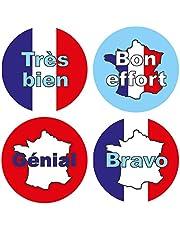 15mm Franse taalbeloningsstickers: 440 stickers