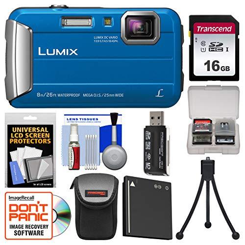 (Panasonic Lumix DMC-TS30 Tough Shock & Waterproof Digital Camera (Blue) with 16GB Card + Case + Battery + Flex Tripod + Kit)