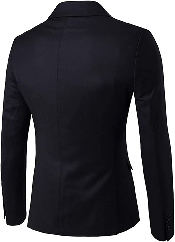 Dihope Homme Costume /Él/éagnt Ensemble 3 Pi/èces Veste Slim Fit Blazer Uni Gilet Pantalon pour Affaire Mariage Business C/ér/émonie