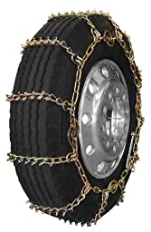 Security Chain Company QGS343HD Quik Grip Alloy Stud Off Road Truck 8mm Tire Traction Chain - Set of 2