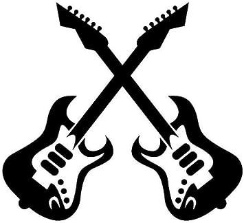 Pegatina de vehículo Dos Guitarra Eléctrica Música Rock Música ...
