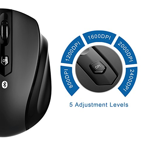 JETech M0884 Bluetooth Wireless Mouse for PC, Mac, and Android OS Tablet with 6-month battery life by JETech (Image #1)