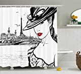 Best Ambesonne Home Fashion Curtains Whites - Fashion House Decor Shower Curtain by Ambesonne, H Review