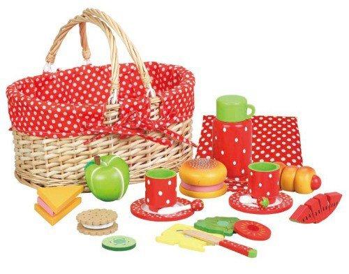 Kinder Kochgeschirr Vergleich - Picknick-Korb im Erdbeerdesign
