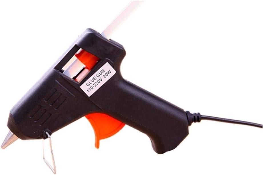 QWERTOUR 20W de Calor eléctrico de fusión en Caliente de Vidrio Pegamento Pistola para calafatear Sticks para Herramientas neumáticas Reparación