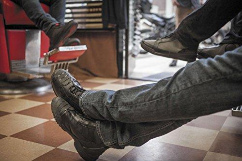 Bates Beltline Ytelse Menns Motorsykkel Støvler (svart / Rød, Størrelse 10) Svart