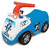 Kids Ride-on Toy - Kids Ride-on Car Toy - Kids Mickey Mouse Police Drive Along Ride On Car Toy with Sound and Light - Creative Educational Gift for Kids Boys Girls