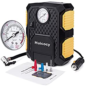 Huicocy 12V DC 150PSI Portable Electric Auto Air Compressor Pump Car Tire Inflator