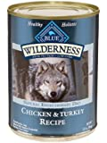 Blue Buffalo Wilderness Grain Free Canned Dog Food, Turkey and Chicken Recipe (Pack of 12 ,12.5-Ounce Cans)
