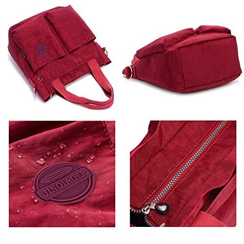 nylon Chou Petit Maman à Sac Sac résistant Rouge Style Corps fourre Ultra en tout pour Léger Violacé à Sac l'eau Sac Croix main femme wFdq4Xd