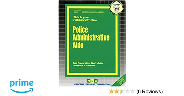 Police administrative aidepassbooks career examination series c police administrative aidepassbooks career examination series c 640 jack rudman 9780837306407 amazon books fandeluxe Choice Image