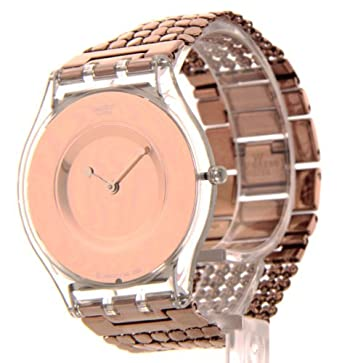 Amazon.com: Swatch SFK129B Womens Swatch Paved In Bronze Swiss Slim Dress Mesh Band Watch: Watches
