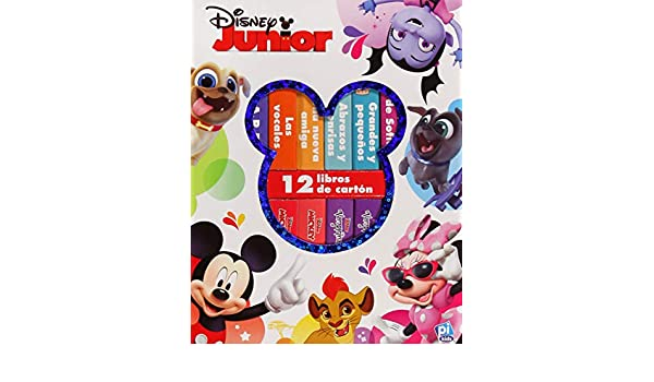 BKBLK. DISNEY JUNIOR (ESTUCHE 12 LIBROS CARTON): DISNEY ...