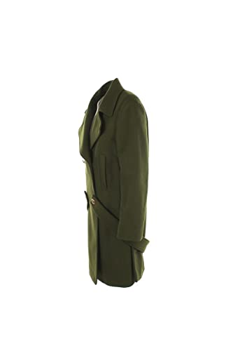 Cappotto Donna Pinko 42 Verde Tortora Autunno Inverno 2016 17  Amazon.it   Abbigliamento 852a74216b3