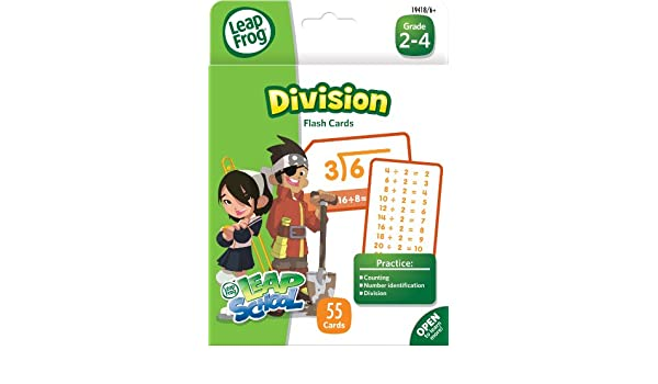 Amazon.com: LeapFrog LeapSchool Division Flash Cards for Grades 2 ...