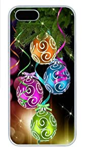 Colorful Christmas balls PC Case Cover for iPhone 5 and iPhone 5s White Halloween gift