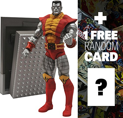 Colossus: Marvel Select x Diamond Select Action Figure + 1 FREE Official Marvel Trading Card Bundle (Marvel Character Cards compare prices)