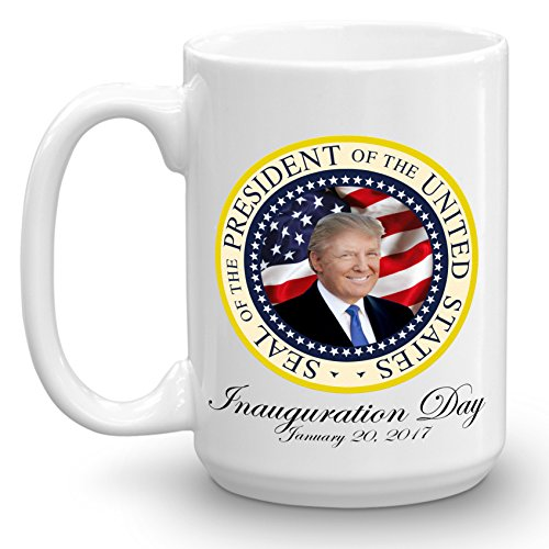 "Limited Edition Donald Trump ""Official Seal of the United States"" Coffee Cup 45th Presidential Inauguration GOP Republican Collectors Coffee Mug January 20, 2017 (15, White)"