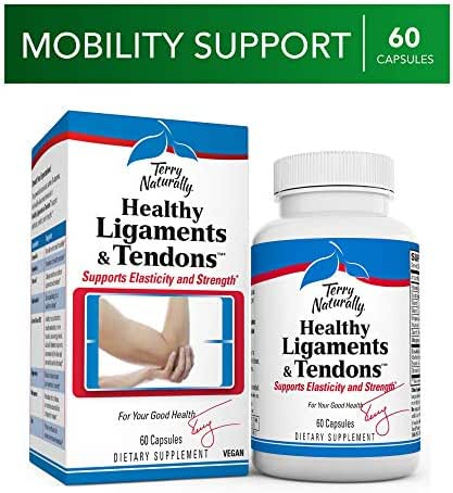 Terry Naturally Healthy Ligaments & Tendons - 60 Vegan Capsules - Elasticity & Strength Support Supplement, Promotes Collagen Production - Non-GMO, Gluten-Free - 30 Servings