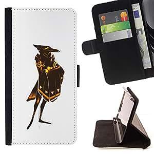Momo Phone Case / Flip Funda de Cuero Case Cover - Cuervo Blanco Dios Pájaro Escudo de Oro - HTC Desire 820