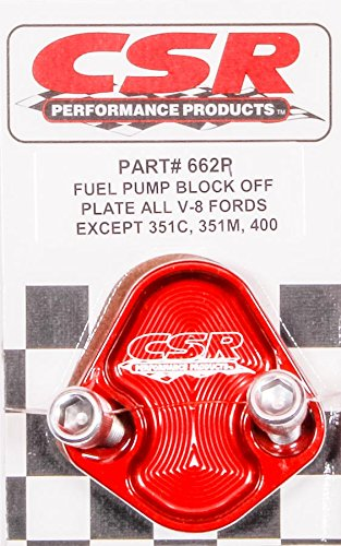 CSR Performance Products 662R Red Fuel Pump Block-Off Plate for Ford