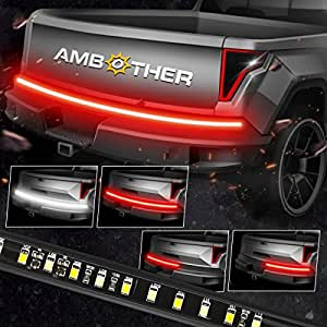 """AMBOTHER 5-Function 48""""/49"""" Truck Tailgate Side Bed Light Strip Bar 3528-72LEDs Waterproof Turn Signal, Parking, Brake, Reverse Lights for Pickup SUV Jeeps RV Dodge Ram Toyota Chevy GMC Red/White"""