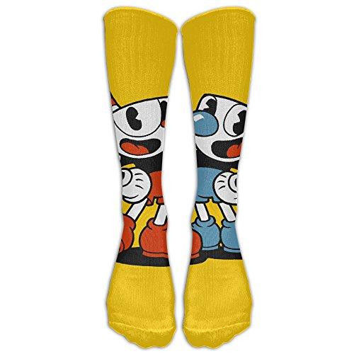 SOA7Q Cup Video Game Head Comfortable Athletic Socks Long Socks Tube Sock Unisex Colorful For School Knee - Video Nylon Japanese