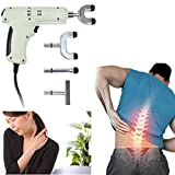 Hongxin DHL Chiropractic Adjusting Tool Spine Activator Medical Therapy Manual Chiropractic Adjusting GunInstrument Massager For Scoliosis/Thoracic Spondylosis/Cervical Spondylosis (White)