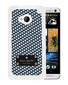 Unique Designed Kate Spade Cover Case For HTC ONE M7 White Phone Case 189