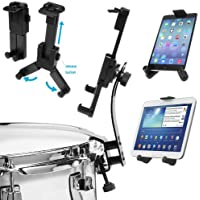 ChargerCity Drum Stand Rim Lock on Clip Mount for w/Apple iPad Air Mini Pro (9.7) Samsung Galaxy Tab LG G Pad HD HDX Microsoft Surface Google Nexus Tablets
