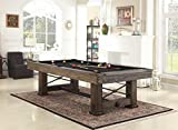 Playcraft Rio Grande 8' Slate Pool Table, Weathered Bark
